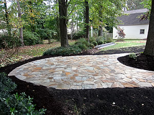 Adding interlocking pavers brings a bit of old world Virginia to your property